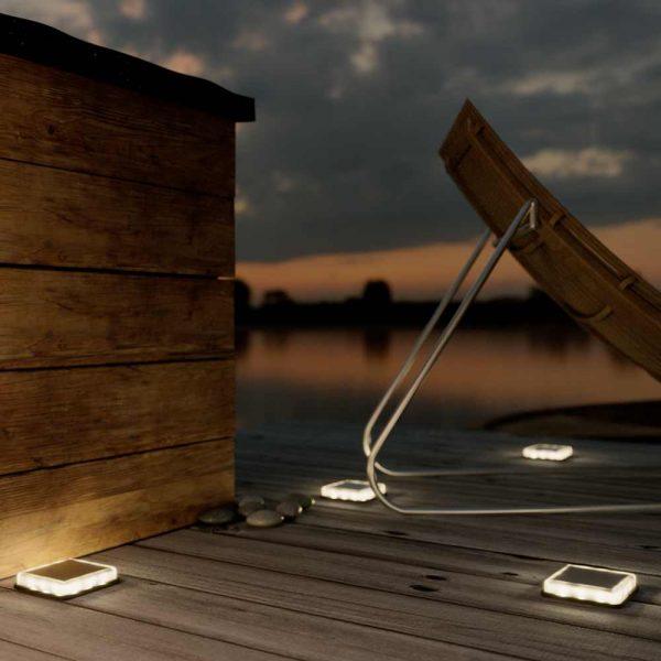 Spot solaire pour terrasse LED - Terrasses - Eclairage terrasse