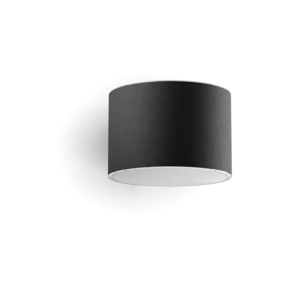 Applique solaire LED cylindrique anthracite - Downlight Up