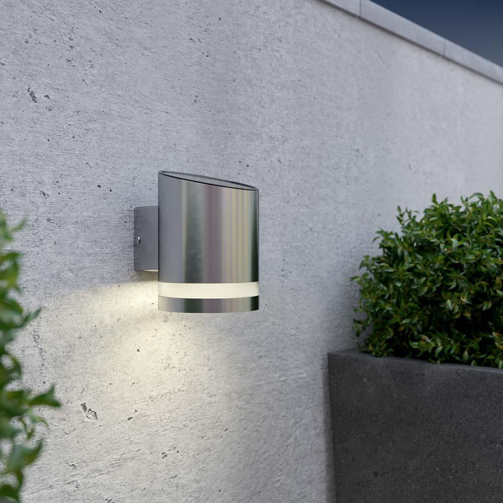Applique solaire downlight rond - chrome