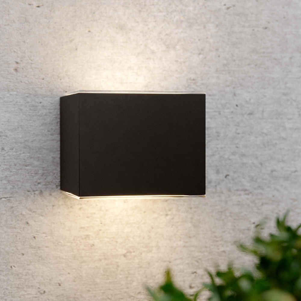 Applique solaire up downlight noir